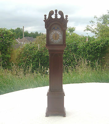 "Franklin Mint Reproduction Antique Grandfather Clock - 11"" High / Miniature"