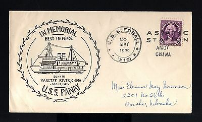 5827-CHINA-USA-Military NAVY COVER CHINESE STATION USS.EDSA-AMOY.1938.WWII.CHINE