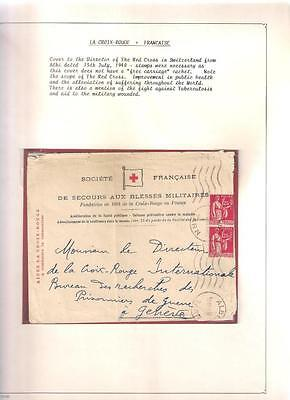 14128 FRANCE WWII RED CROSS envelope Albi to Switzerland Jul 1940