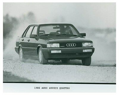 1986 Audi 4000CS Quattro Automobile Factory Photo ch4700