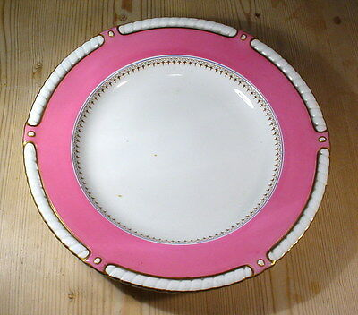 """Antique Royal Worcester 10"""" Pink Dinner Plate (One of TEN)"""