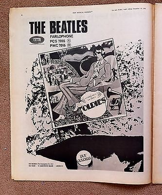 BEATLES  with FULL PAGE ADVERT FOR THEIR NEW LP in N M E Dec 1966