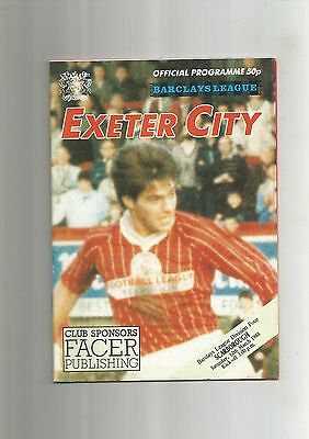 Exeter City v Scarborough 12th March 1988 VGC