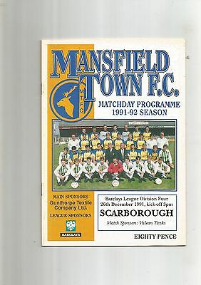 Mansfield Town v Scarborough 26th December 1991 VGC