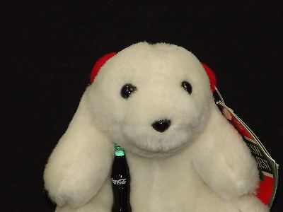 PLUSH CHRISTMAS Holiday ORNAMENT COCA-COLA COKE BOTTLE POLAR BEAR CUB SOFT TOY