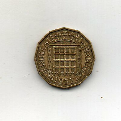 GREAT BRITAIN 3 Pence 1957