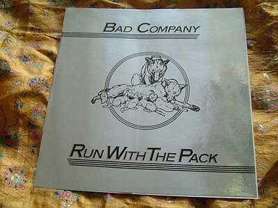 Bad Company Run With The Pack Promo Reflective Sticker NM silver color w/ back