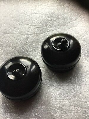 "Pair VINTAGE CRABTREE bakelite 2"" DARK BROWN light switches"