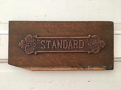 Antique Standard Treadle Sewing Machine Wooden Front Panel