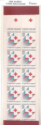 14144 FRANCE 1988 RED CROSS Booklet complete