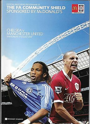 2007 FA COMMUNITY SHIELD PROGRAMME>CHELSEA v MAN UTD