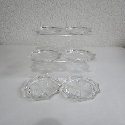 6 Vintage French Riems Glass Coasters