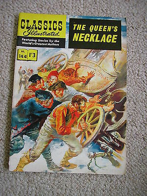 RARE Classsics Illustrated Comic 144 THE QUEEN'S NECKLACE Incredible Condition !
