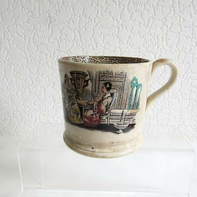 Antique c1820 - 1850  Hand Painted infill Chinoserie Mug/Tankard-Cider?