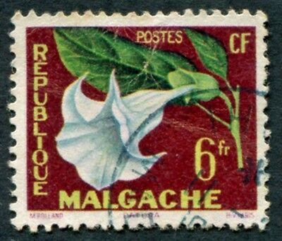 MALAGASY REPUBLIC 1959 6f SG2 used NG Tropical Flora Datura #W32