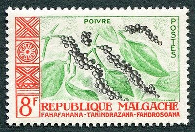 MALAGASY REPUBLIC 1960 8f black, light emerald and red SG14 MNH FG Pepper a#W32