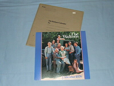 "1978 ""The Waltons"" Color Calendar (Mint In Original Folder) Lorimar Productions"