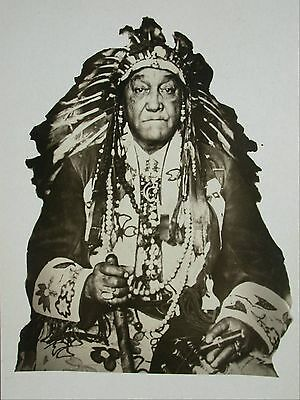 RPPC Postcard Old Native Indian Chief With Amazing Beaded Clothing & Headdress