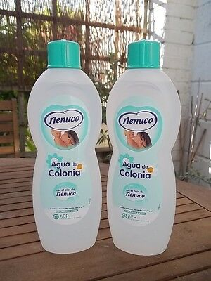 2 bottles Nenuco Agua De Colonia 600ml  Cologne. Baby Hypoallergenic ph neutral