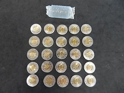 2000 CANADA $2 Toonie roll - Knowledge logo - 25 Uncirculated Coins