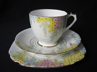"""Art Deco Standard China Trio, Cup, Saucer & Plate-""""diana"""" Pattern 8487"""