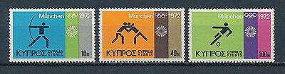 Cyprus  383-5  MNH, Olympic Games, 1972