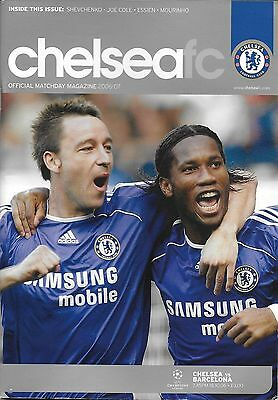 Football Programme>CHELSEA v FC BARCELONA Oct 2006 UCL