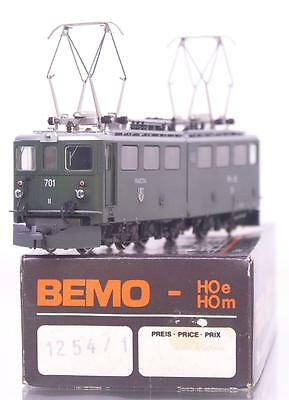 "BEMO 1254 1 HOm - SWISS RhB GREEN Ge 6/6 ELECTRIC LOCOMOTIVE No.701 ""RAETIA"""