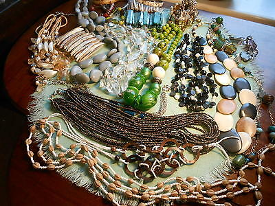 Huge Job Lot Jewellery Chunky Modern  Necklaces Bracelets Bangles