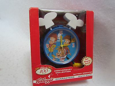 2006 Kellogg's 100 Year Anniversary Battery Operated Alarm Clock:  Rice Krispies