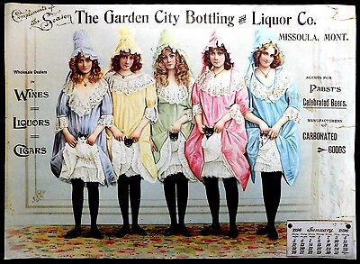 "Repro Poster of Garden City Bottling & Liquor, Missoula, Mont. Pabst's 19.5""x14"""