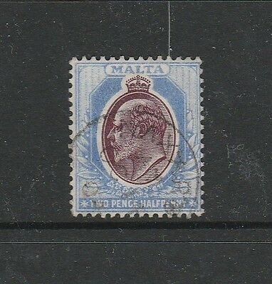 Malta 1903/04 2 1/2d Purple & Blue Used SG 41