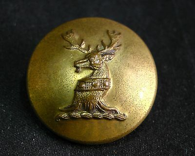 Late 19th C. Lloyd Family 26mm Livery Button STAG HEAD ERASED w COLLAR Wilkinson