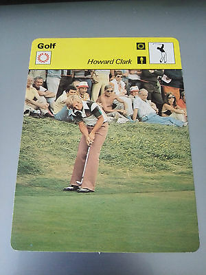 GOLF - Howard CLARK - RYDER CUP - Sportscaster Photo Fact Card