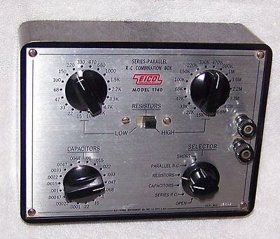 Vintage Working EICO Model 1140 Series-Parallel R-C Combination Testing Box