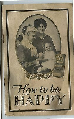 Antiqur Booklet Lydia E Pinkham Vegetable Compund How to Be Happy