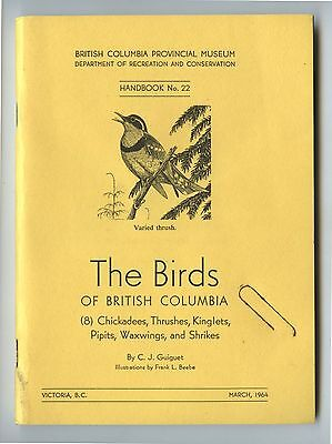 Old 1964 The Birds of British Columbia Booklet Provincial Museum