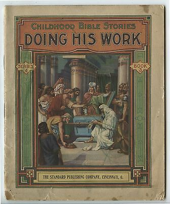Antique Childhood Bible Stories Book Doing His work Series 4 Book 3