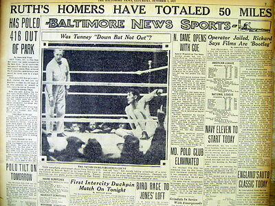 Babe ruth 60th home run picture.