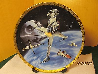 STAR WARS Space Vehicles PLATE Hamilton Collection B-WING FIGHTER LIMITED #1592B