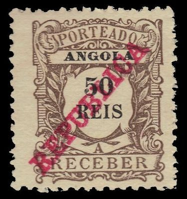 """ANGOLA J15 (Mi P15) - Numeral of Value """"Postage Due"""" (pa14768)"""