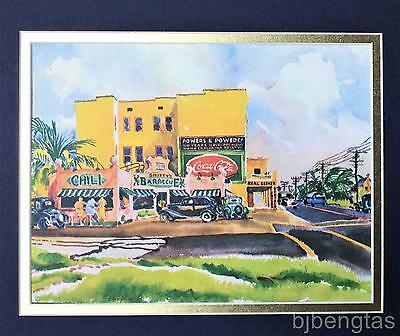 1936 Joseph Webster Golinkin Coca-Cola Chili Barbecue Palm Trees Vintage Print