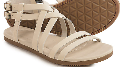 adac2093f443 New Teva Strappy Sandals Womens 8 Avalina Crossover Leather White Free Ship