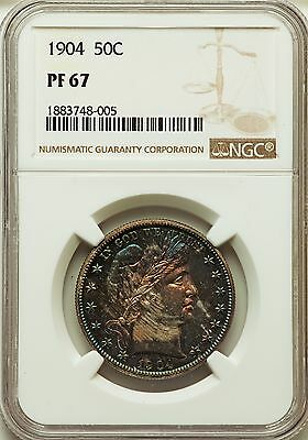 1904 US Silver 50C Barber Half Dollar Proof - NGC PF67