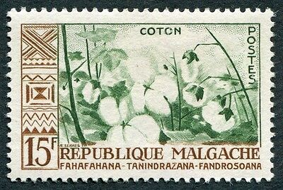 MALAGASY REPUBLIC 1960 15f deep green and brown SG16 mint MH FG Cotton b #W32