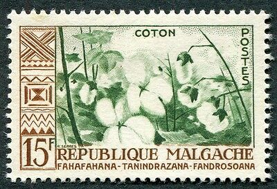 MALAGASY REPUBLIC 1960 15f deep green and brown SG16 mint MH FG Cotton c #W32