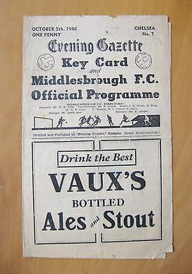 MIDDLESBROUGH v CHELSEA 1946/1947 *Good Condition Football Programme*
