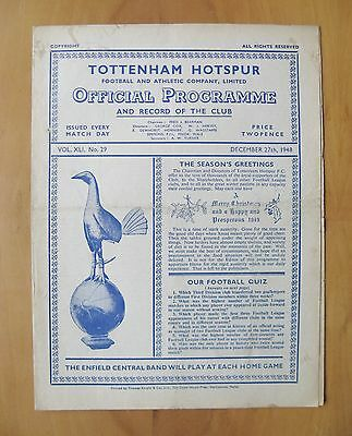 TOTTENHAM HOTSPUR v LEICESTER CITY 1948/1949 *Good Condition Football Programme*