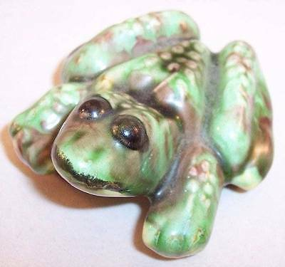 Naughty Female Frog Ceramic Figurine, Anatomically Correct, Chips on Bottom