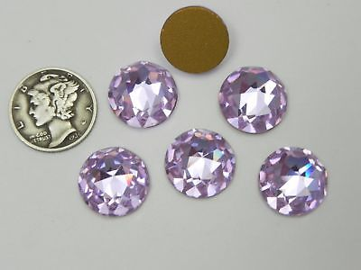 Swarovski 2020 Alexandrite GF 14mm RARE Vintage Flatback Fancy Facets (1 piece)
